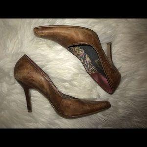 Steve Madden leather short heels